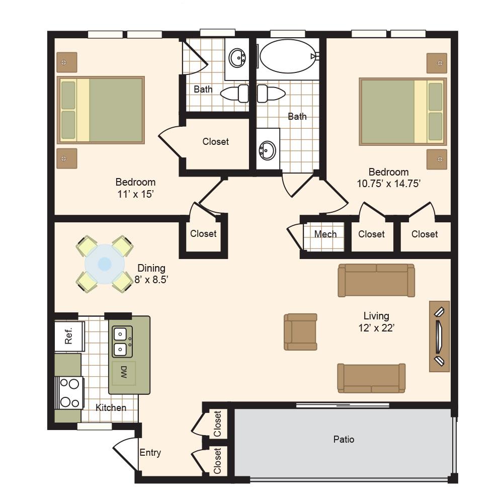floor plans | colony oaks luxury apartment living in bellaire houston
